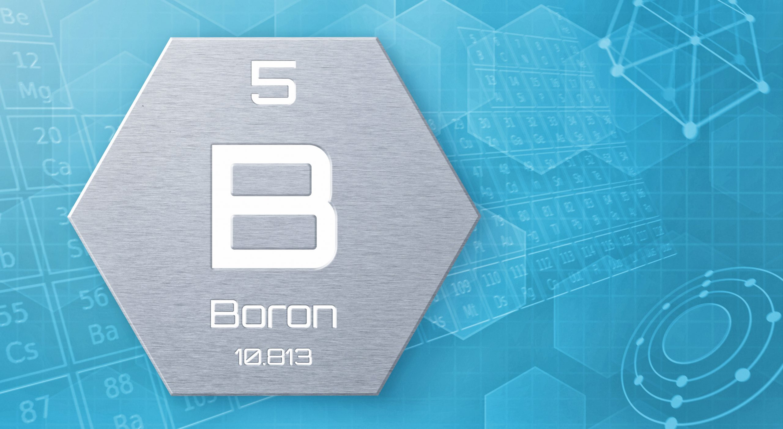 """Chemical element of the periodic table - Boron / Borophene """"the new wonder material"""""""